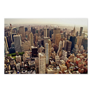 New York City From Above Print
