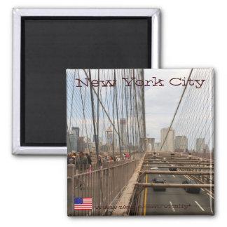 New York City from Brooklyn bridge magnet