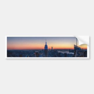 New York City from top of the Rockefeller Centre Bumper Sticker