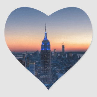 New York City from top of the Rockefeller Centre Heart Sticker