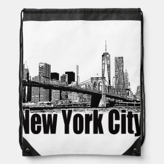 NEW YORK CITY GEAR BY EKLEKTIX DRAWSTRING BACKPACK