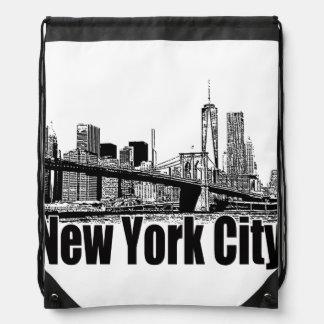 NEW YORK CITY GEAR BY EKLEKTIX DRAWSTRING BACKPACK
