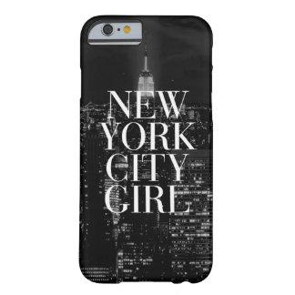 New York City Girl Black White iPhone 6 Case
