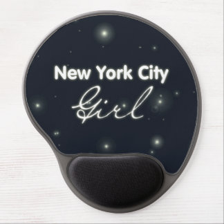New York City Girl - Blue Sky and Stars Gel Mouse Mats