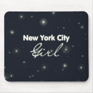 New York City Girl - Blue Sky and Stars Mouse Pad