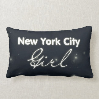 New York City Girl - Blue Sky and Stars Pillows