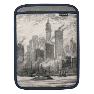 New York City Governor's Island Sketch Sleeve For iPads