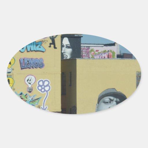 New York City Graffiti Oval Sticker