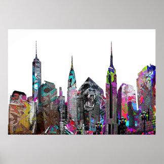 New York City graffiti Poster