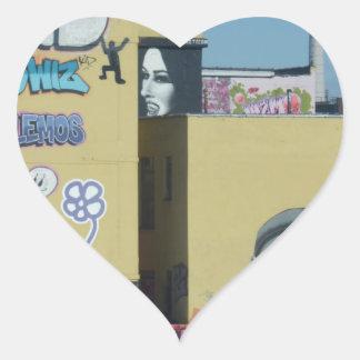 New York City Graffiti Heart Sticker