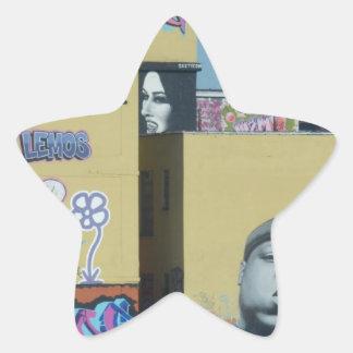 New York City Graffiti Star Sticker