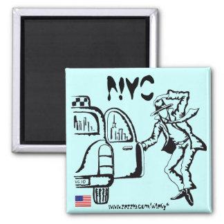 New York City graphic art cool magnet design
