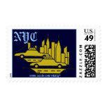 New York City graphic art cool stamp design