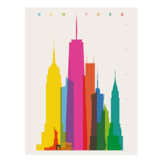 New York City Graphic Postcard