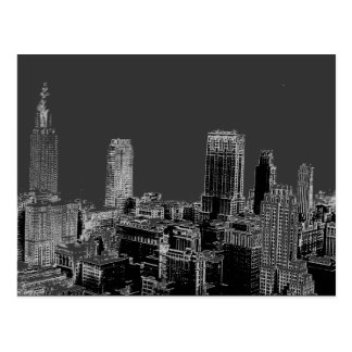 New York City Gray Pop Art Postcards