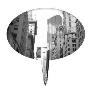 New York City Grayscale Photograph Cake Topper