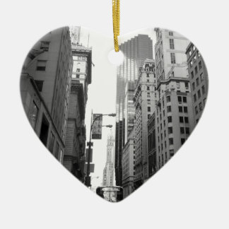 New York City Grayscale Photograph Ceramic Ornament
