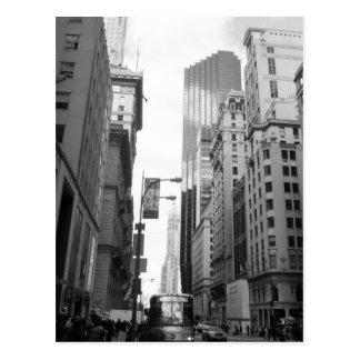 New York City Grayscale Photograph Postcard