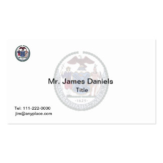 New York City Great Seal Double-Sided Standard Business Cards (Pack Of 100)