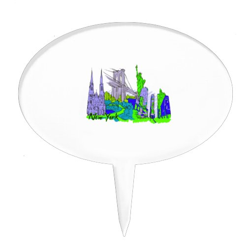 new york city green city image.png cake picks