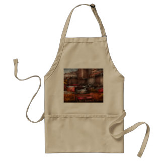 New York - City - Greenwich Village - Abstract cit Adult Apron