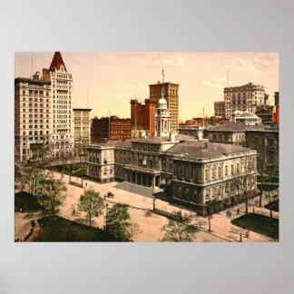 New York City Hall 1900 Posters