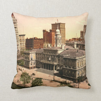 New York City Hall 1900 Throw Pillow