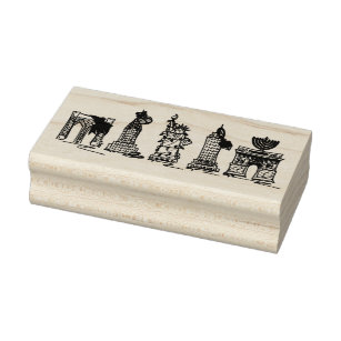 New York City Hanukkah Chanukah NYC Landmarks Rubber Stamp
