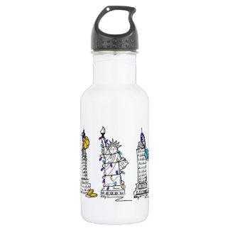 New York City Hanukkah NYC Jewish Holiday Chanukah Stainless Steel Water Bottle