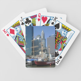 New York City Harbor Boats Bicycle Playing Cards
