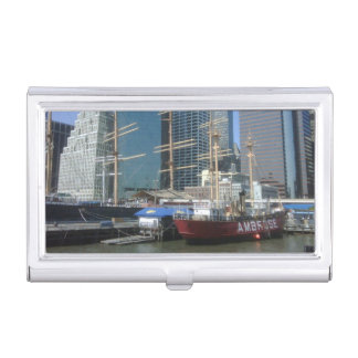 New York City Harbor Boats Business Card Holder