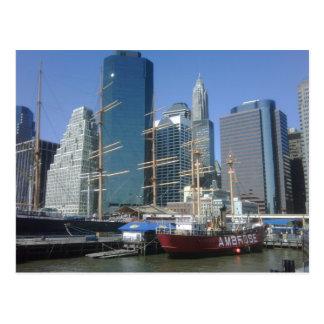 New York City Harbor Boats Postcard