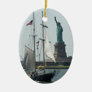 New York City Harbor Photo Single-Sided Ornament