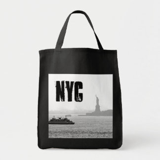 New York City Harbor - Statue of Liberty Grocery Tote Bag