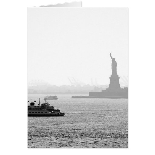 New York City Harbor - Statue of Liberty Card