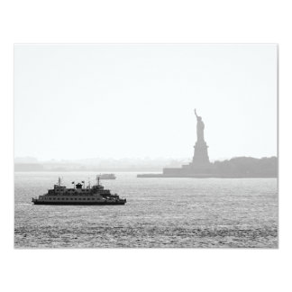 New York City Harbor - Statue of Liberty Card