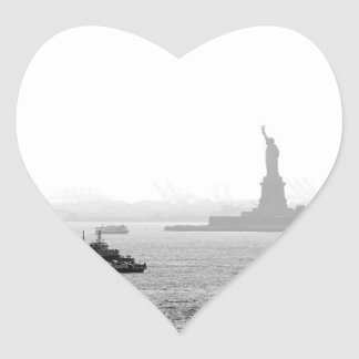 New York City Harbor - Statue of Liberty Heart Sticker