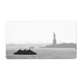 New York City Harbor - Statue of Liberty Label