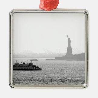 New York City Harbor - Statue of Liberty Christmas Tree Ornament