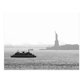 New York City Harbor - Statue of Liberty Postcard