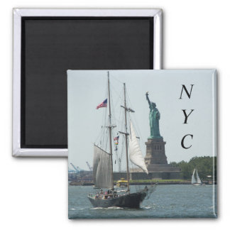 New York City Harbor Travel Photo Magnet
