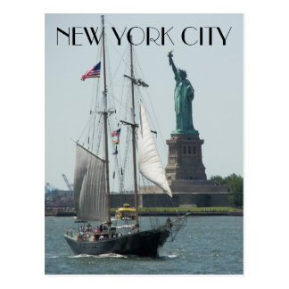 New York City Harbor Travel Postcard