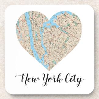 New York City Heart Map Coaster