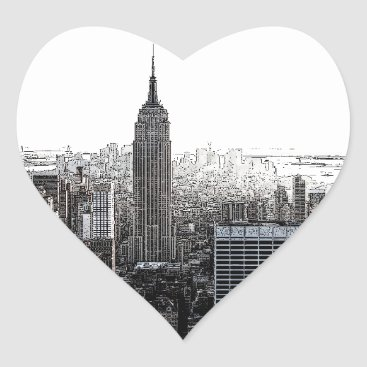 USA Themed New York City Heart Sticker