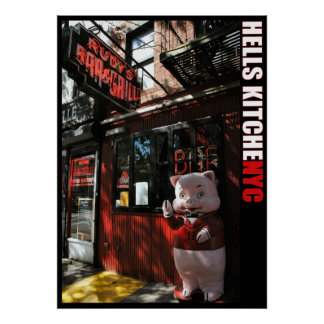 New York City Hell's Kitchen District Bar & Grill Poster