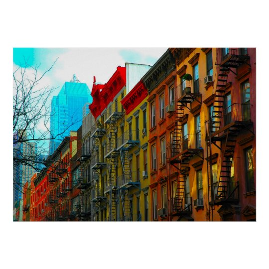 "New York City ""Hell's Kitchen District Street"" Poster"