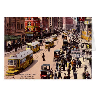 New York City Hobble Skirt Cars on Broadway 1915 Greeting Card