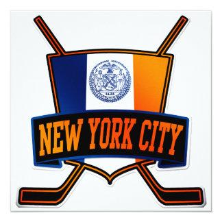 New York City Hockey Flag Card