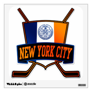 New York City Hockey Flag Wall Sticker