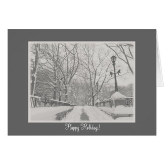 New York City Holiday Card - Snow City Scene